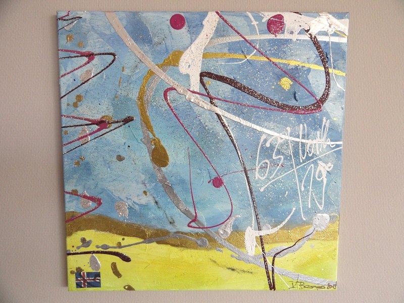 Abstrakte Acrylmalerei Spachteltechnik