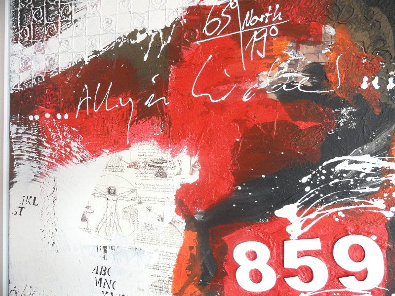 Abstrakte Acrylmalerei auf Leinwand