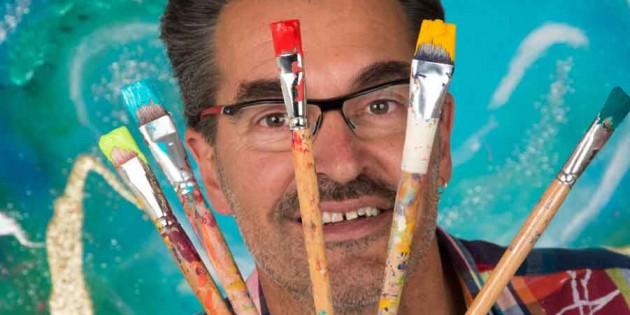 Künstler mit Pinsel